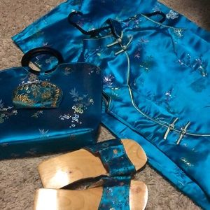 Dresses & Skirts - Custom Made Chinese Style Dress w Accessories